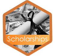 Scholarships hexagon