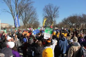 Crowd at the March for Life.