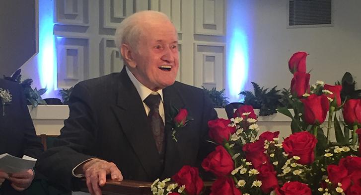 Rev. F.M. Spargo 100th Birthday Stanley PHC Sunday February 5 2017