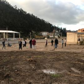 Kids Playing Soccer in Ecuador
