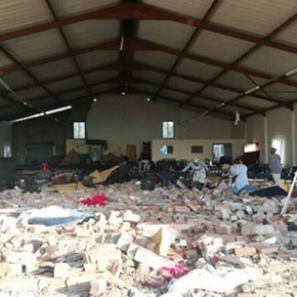 A collapsed church in South Africa