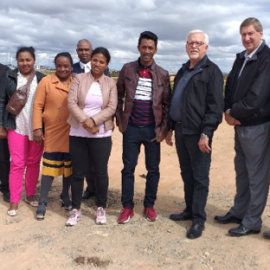 Joe Delport with leaders in Madagascar