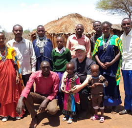 A group of church members in Tanzania