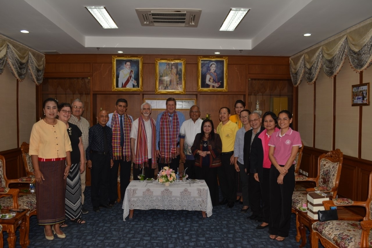 Our team, led by Rev. Steve Cofer as a representative of IPHC WMM, meeting with the Governor of Petchabun Province.