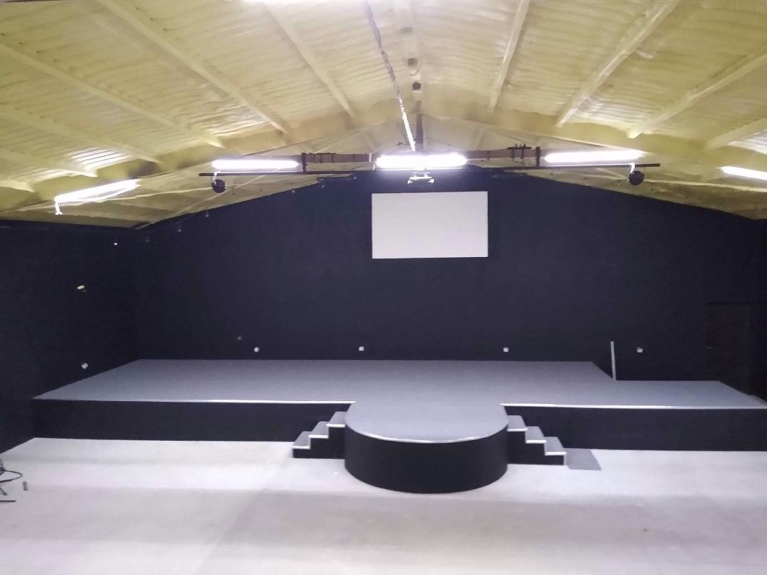 Stage in a new church building