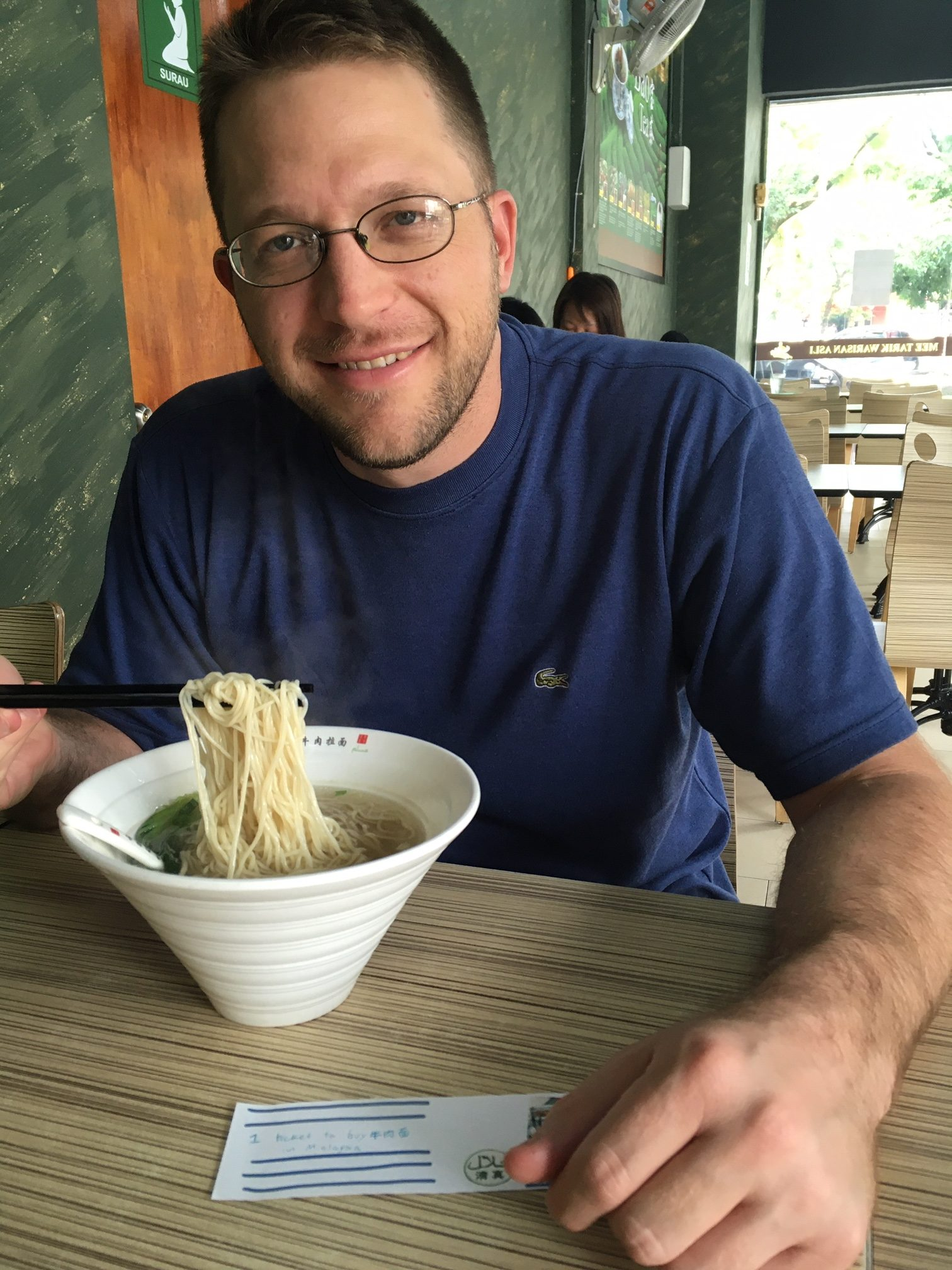 Ben with pulled noodles