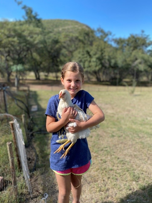 Brittyn and a chicken