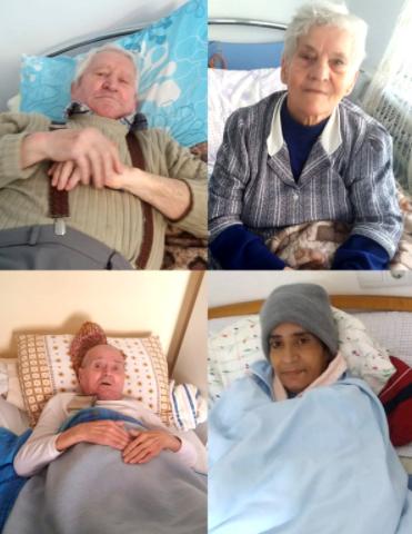 Elderly people in Romania