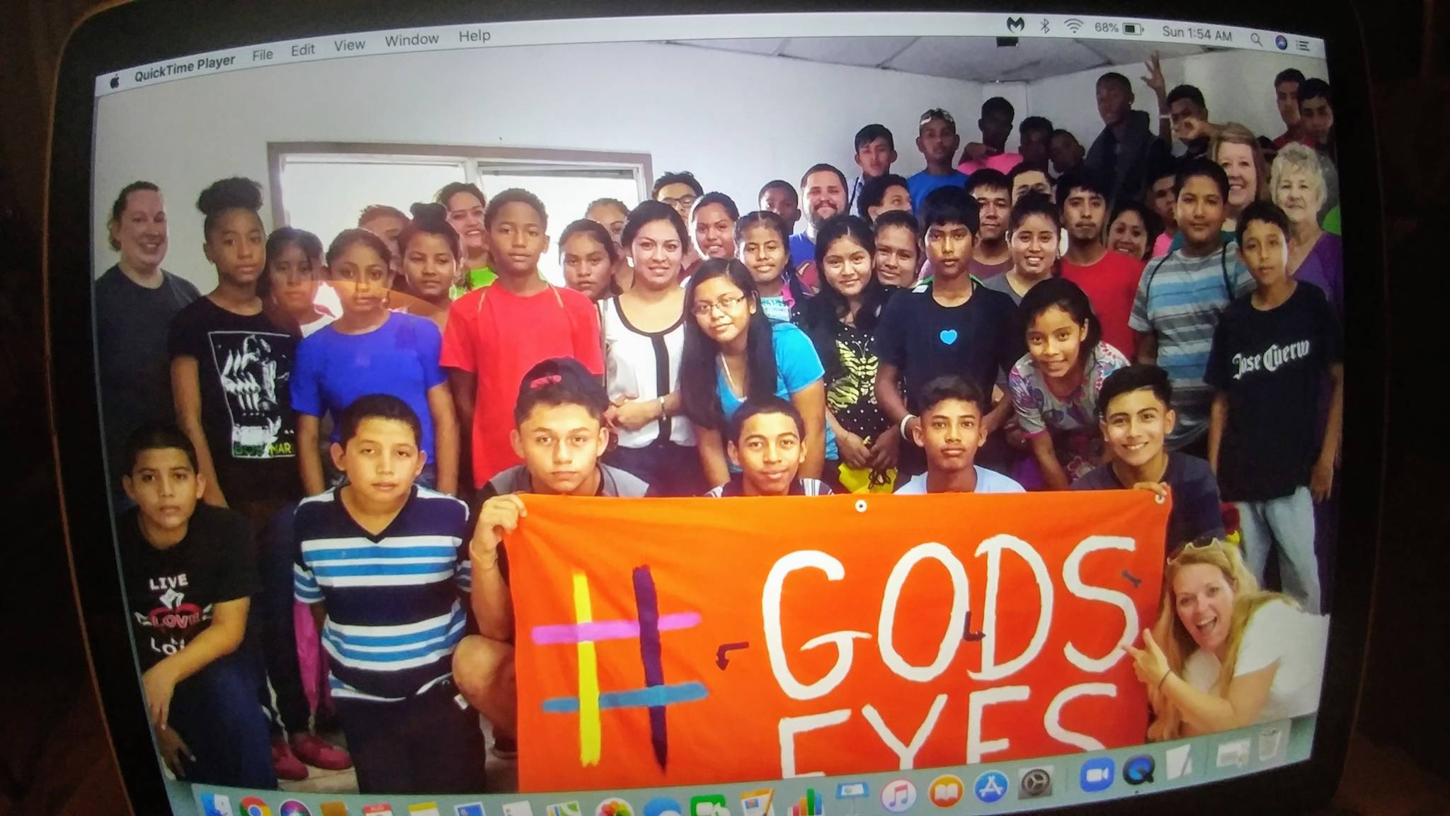 Children at a church event in Belize