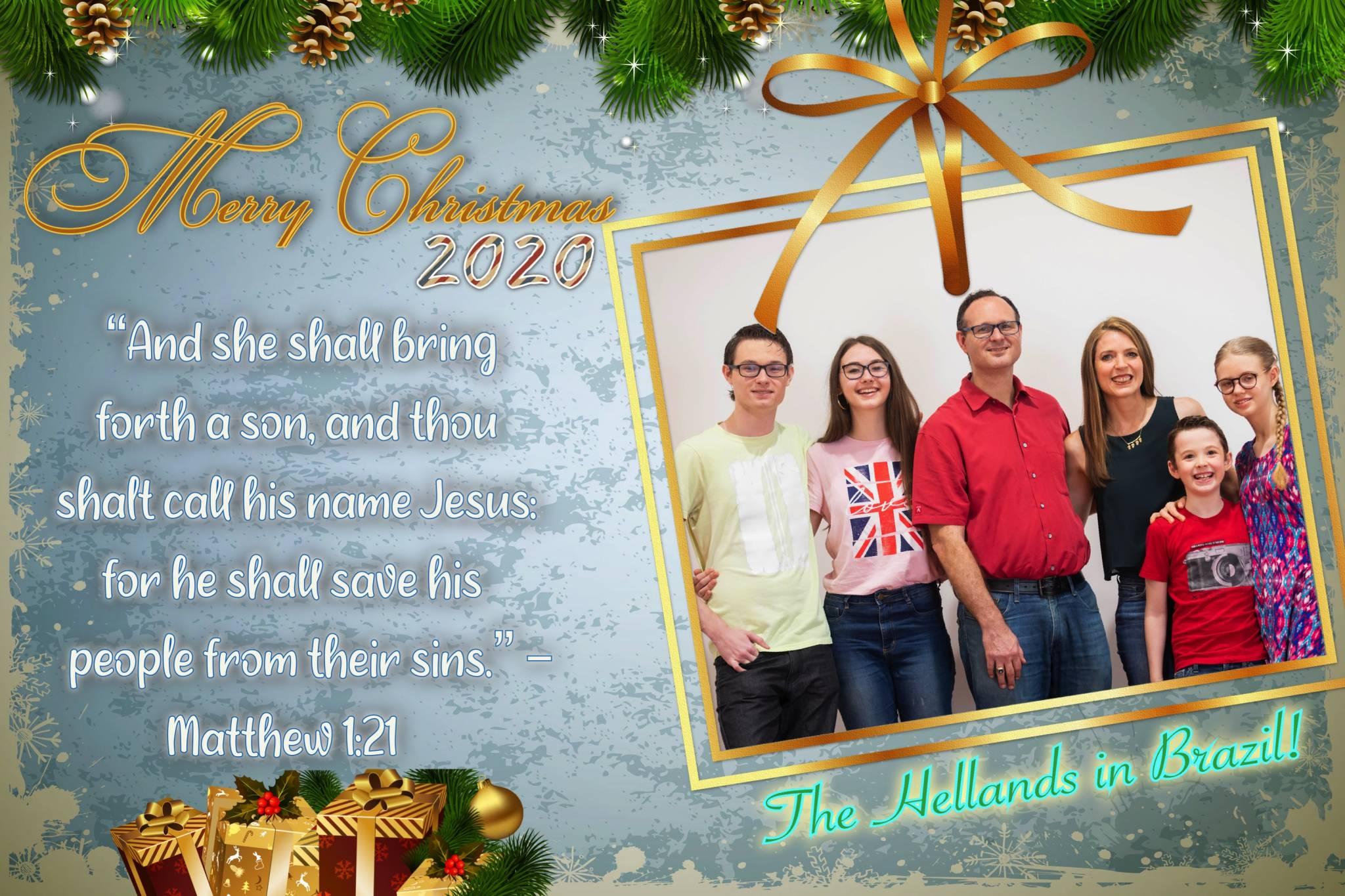 Helland Family Christmas Card