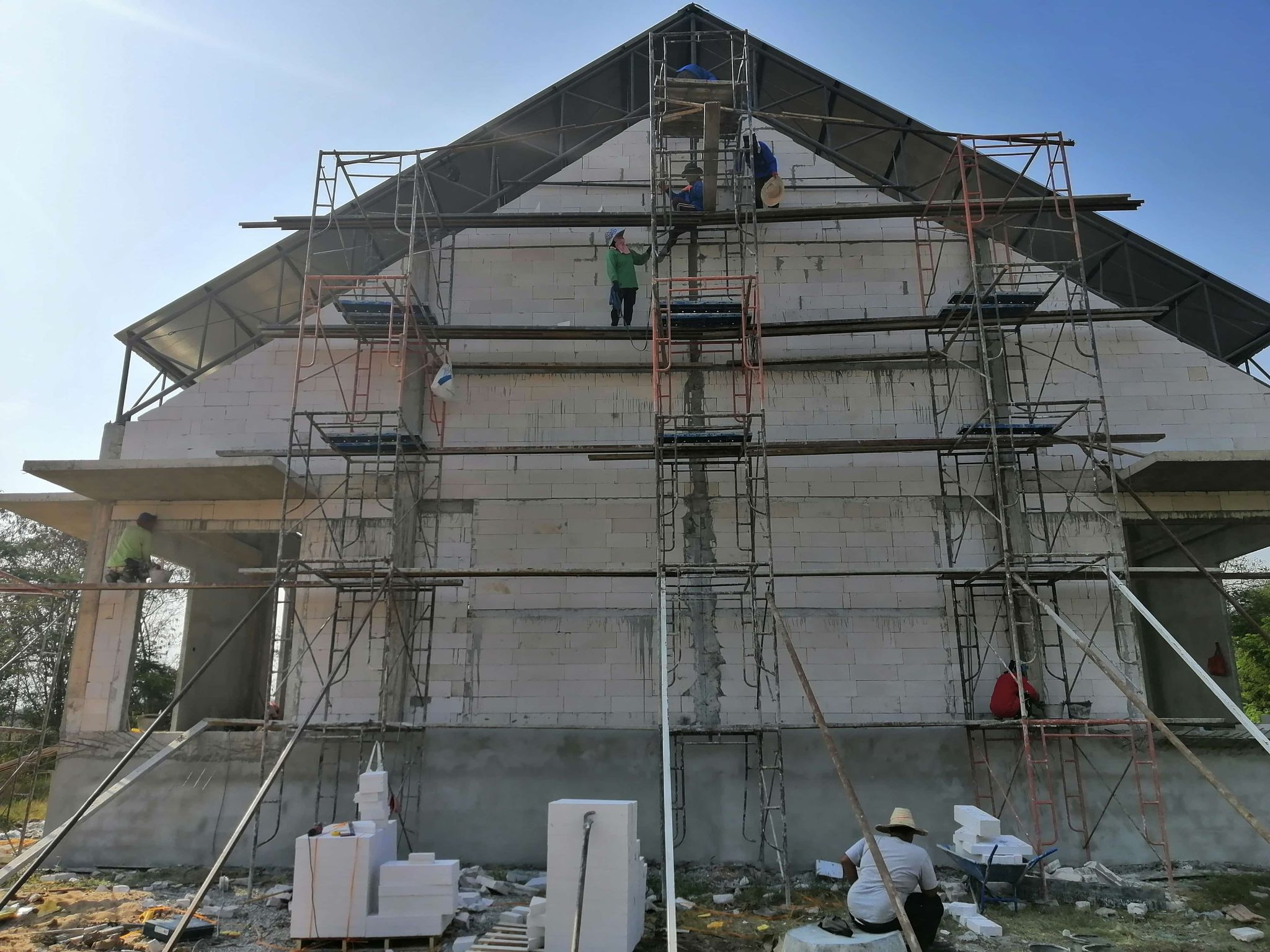 Front View of TTS Building Project
