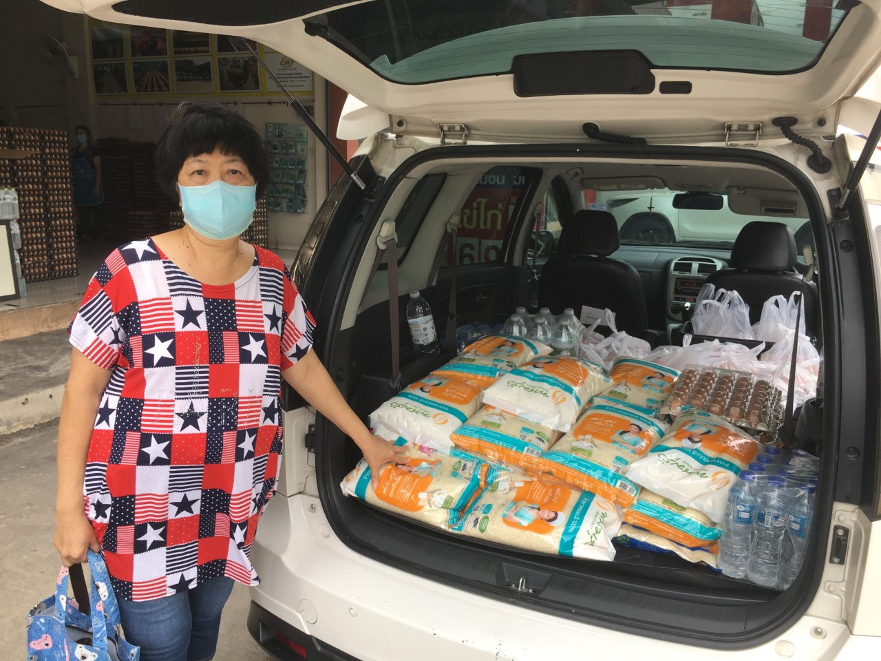 Relief goods ready to be distributed