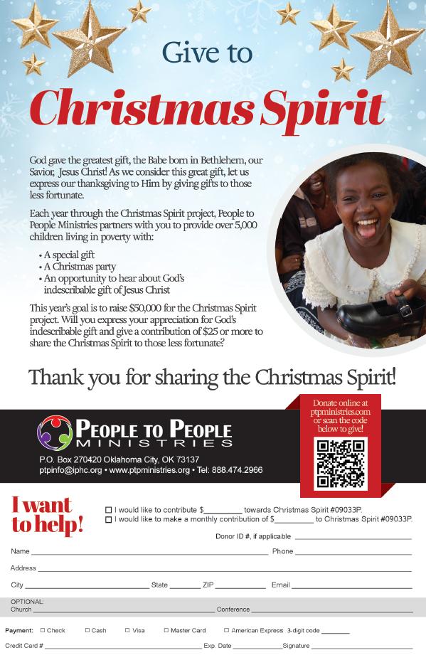 Christmas Spirit Bulletin Insert Graphic