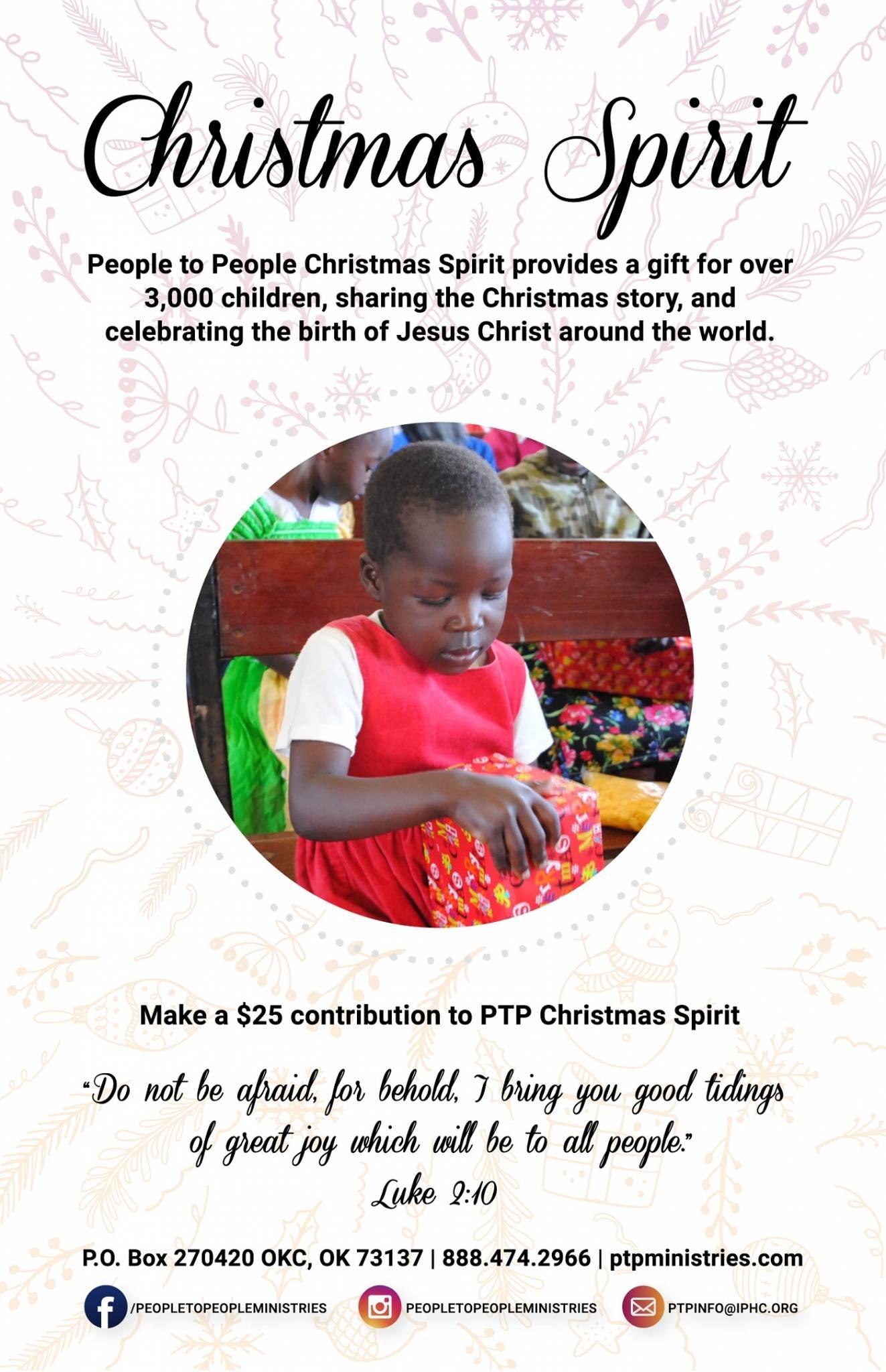 Christmas Spirit Bulletin