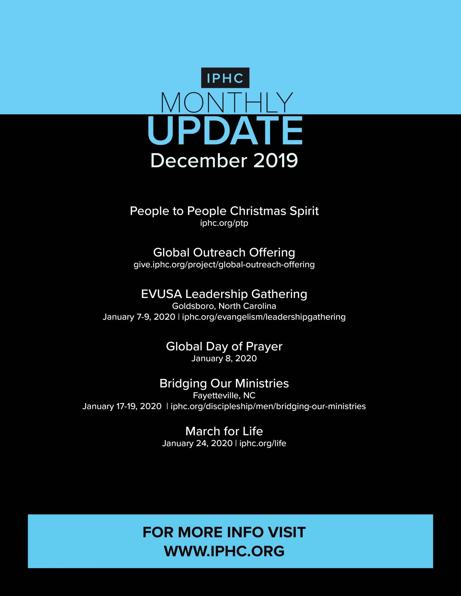 December Monthly Update