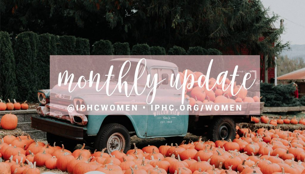 article image for Women's Ministries Monthly Newsletter- October 2021
