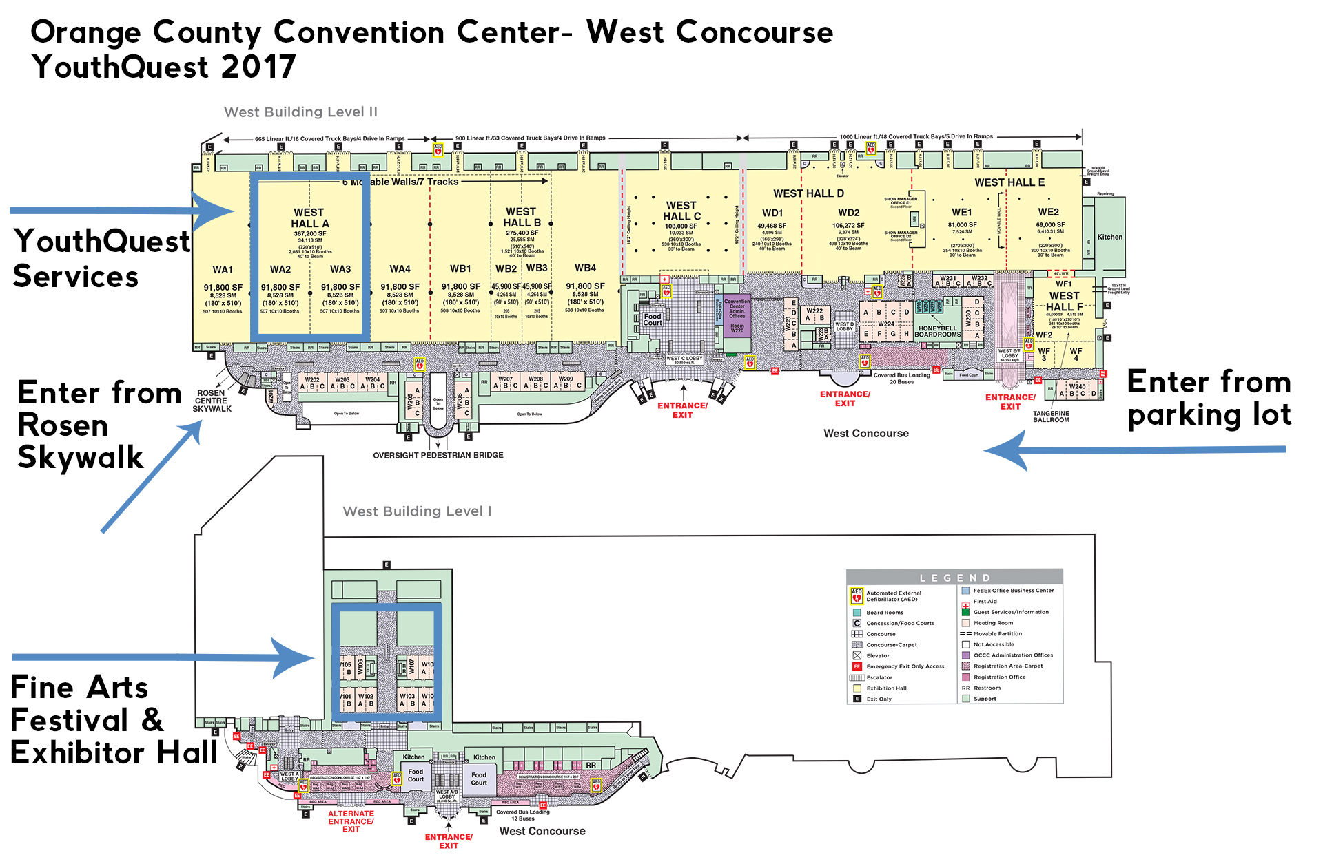 Oregon Convention Center Map Exhibit Hall In The Oregon - Orange county convention center map